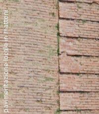 Esempio di pavimentazione locale in mattoni
