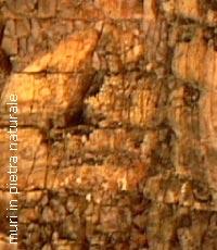 Esempio di muro in pietra naturale