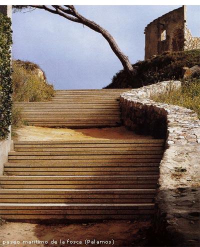 Esempio di pavimentazione e materiali: Paseo maritimo de la Fosca (Palamos)