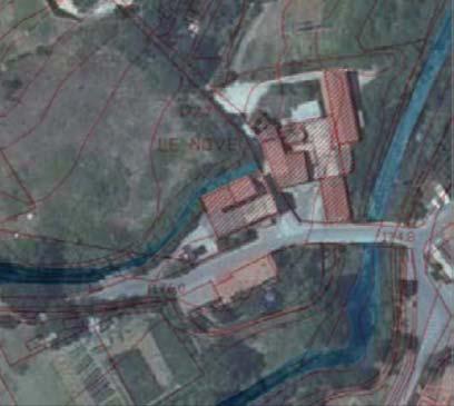 Immagine della planimetria dell'area, scala 1:1000
