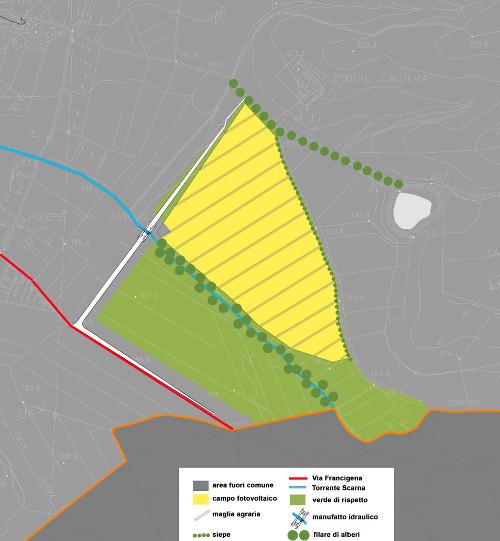 Planimetria dell'area, scala 1:10000