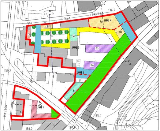 Immagine della planimetria dell'area